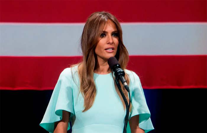 Melania Trump dio el discurso durante la Convención Nacional Republicana. Foto: EFE