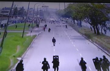 Gran protesta se registra en el occidente de Bogotá