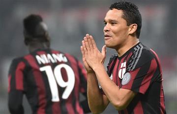Carlos Bacca no estará en la pretemporada con el Milan