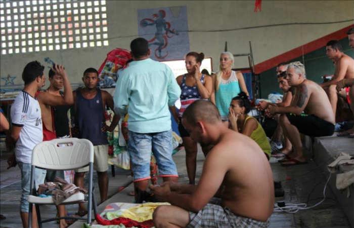 Los emigrantes cubanos se encuentran alojados en Turbo, Antioquia. Foto: EFE
