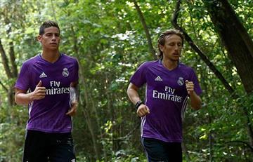 Real Madrid: James Rodríguez estrena la nueva indumentiaria