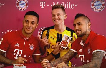 Bayern Múnich: Hincha del Dortmund se coló en una sesión de fotos