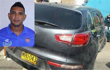 Luis Narváez, jugador del Junior, sufrió accidente de tránsito