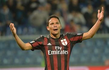 AC Milan: Fecha límite para que Carlos Bacca decida su futuro