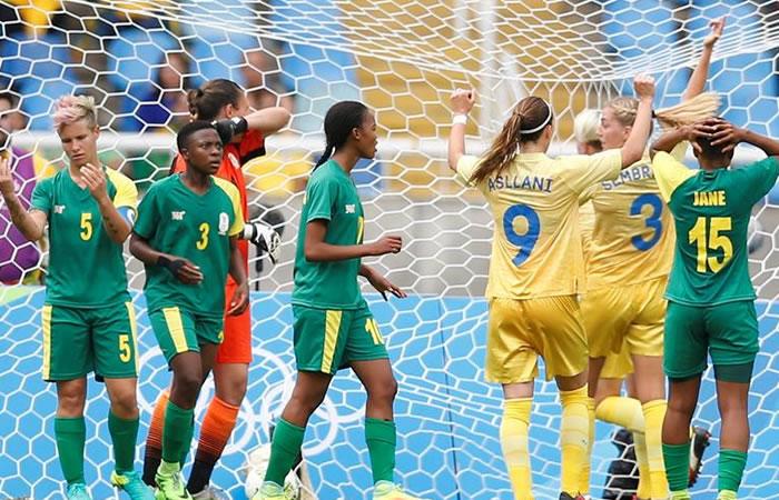 Río 2016: Suecia venció a Sudáfrica