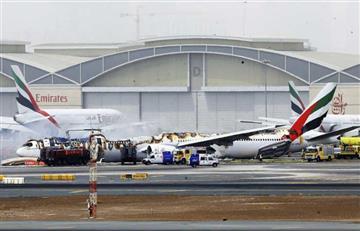 Un avión de la compañía Emirates sufre un incidente al aterrizar en Dubái