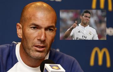"""Zidane: """"No tengo ningún problema con James y él está a gusto aquí"""""""