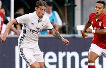 Un tiempo para James en el triunfo del Real Madrid sobre el Bayern Múnich