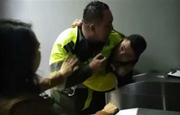 Policías de Bogotá agredieron a periodistas de Citytv