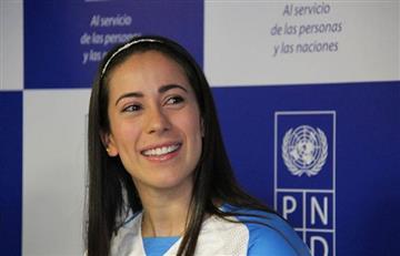 Mariana Pajón se hace pasar como Caterine Ibargüen