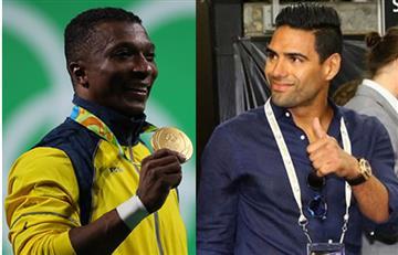 Falcao García felicita a Óscar Figueroa por la medalla de oro