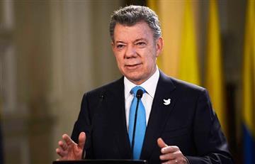 """Santos habló del """"fin de las Farc"""" y del """"bienestar de los colombianos"""""""