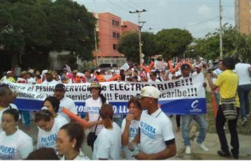 Electricaribe: Barranquilleros protestan por el mal servicio