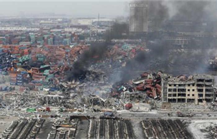 El hecho ocurrió en la central eléctica Madian Gangue Power Generation de China. Foto: Tomada de Twitter