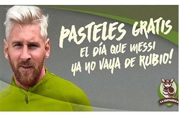 Lionel Messi: regalan pasteles para que deje de ser rubio