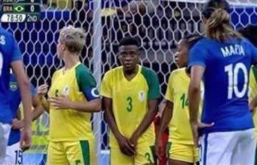 Río 2016: la imagen de una futbolista que se hizo viral