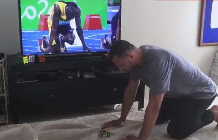 Este hombre fue más rápido que Usain Bolt. Foto: Youtube