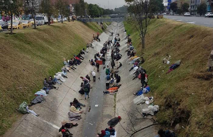 Al menos 20 habitantes de la calle fueron arrastrados por la creciente del río Comuneros