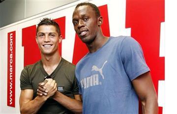 Usain Bolt aconsejó a Cristiano Ronaldo para correr más rápido