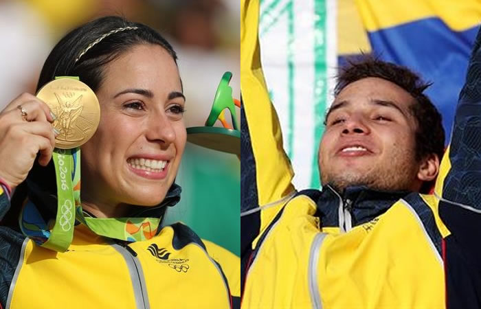 Río 2016: Así felicitaron los famosos a Mariana Pajón y Carlos Ramírez