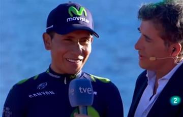 VIDEO: Nairo Quintana dejó clara su misión para la Vuelta a España
