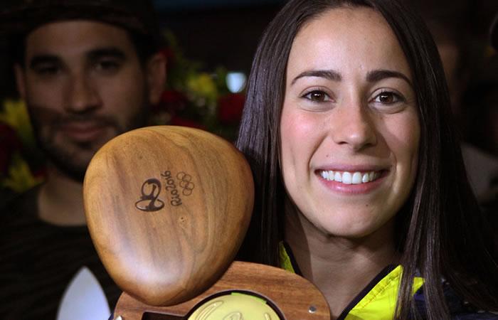 Mariana Pajón: La bicampeona de oro olímpico llegó a Medellín