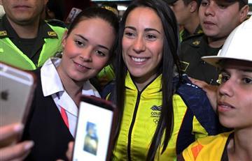 Mariana Pajón: con caravana fue recibida la 'reina del bmx' en Medellín