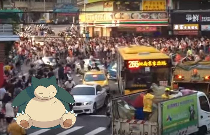 Pokémon Go: Brutal estampida en Taiwán por un Snorlax