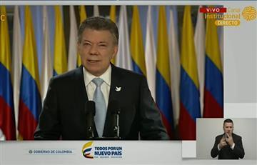 Alocución de Santos sobre el acuerdo final de paz