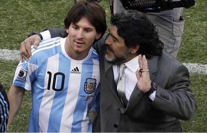 Maradona criticó a Messi. Foto: EFE