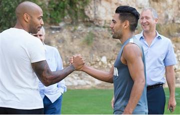Falcao García tuvo un encuentro especial con Thierry Henry