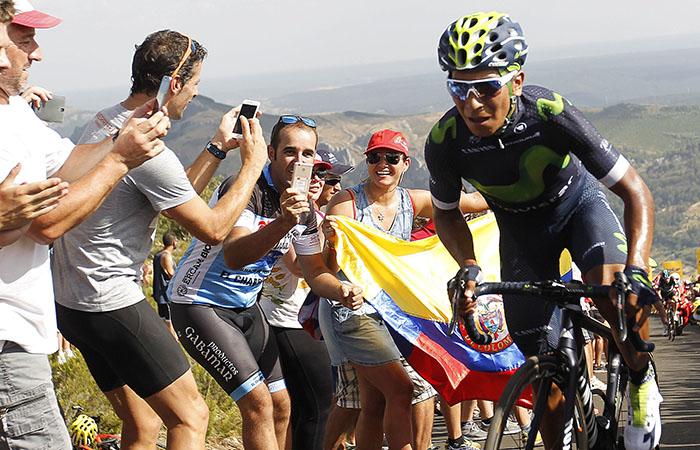 Vuelta a España: Nairo Quintana es segundo en la general