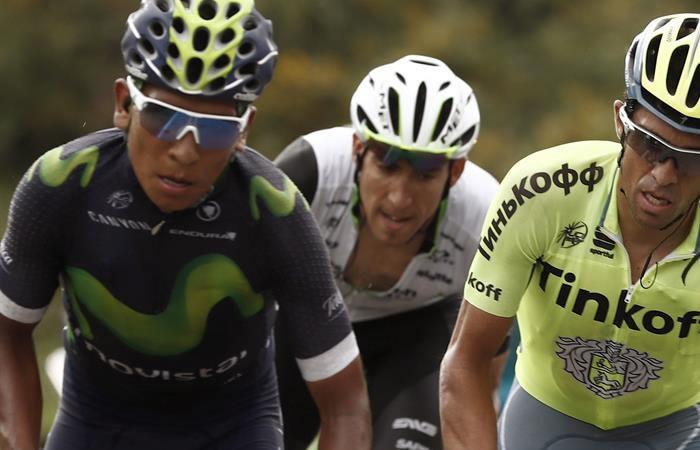 El colombiano asume el liderato de la Vuelta a España. Foto: EFE