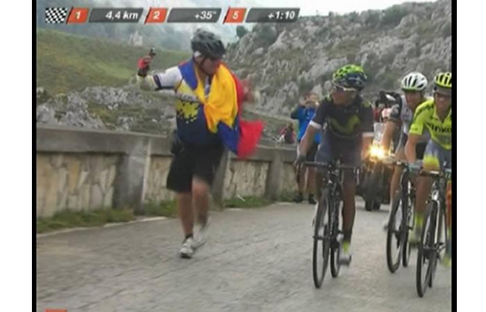 El colombiano es líder de la Vuelta a España. Foto: EFE