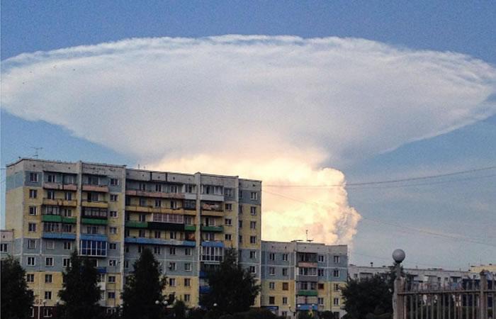 Enorme nube preocupa a ciudadanos. Foto: Instagram