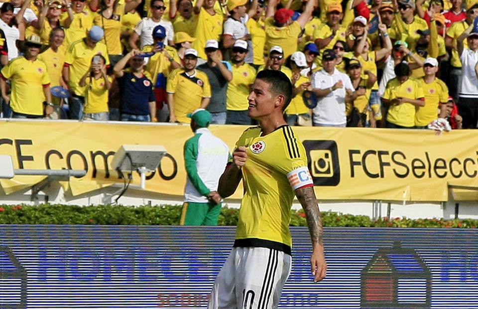 Colombia venció a Venezuela. Foto: EFE