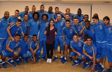 Selección Colombia recibió visita de Mariana Pajón