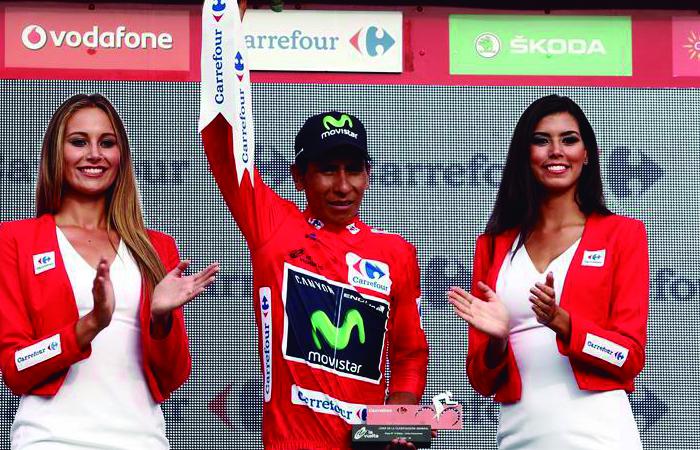 Nairo Quintana se mantiene líder y Chaves es tercero en La Vuelta