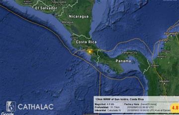 Sismo de 5,4 grados sacude a Costa Rica