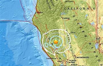 Un sismo sacudió el norte de California, Estados Unidos