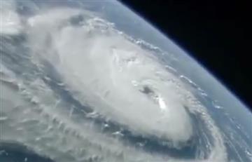 NASA registra huracanes desde el espacio