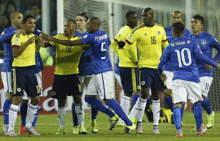Colombia venció a Brasil en el último partido oficial de mayores. Foto: EFE
