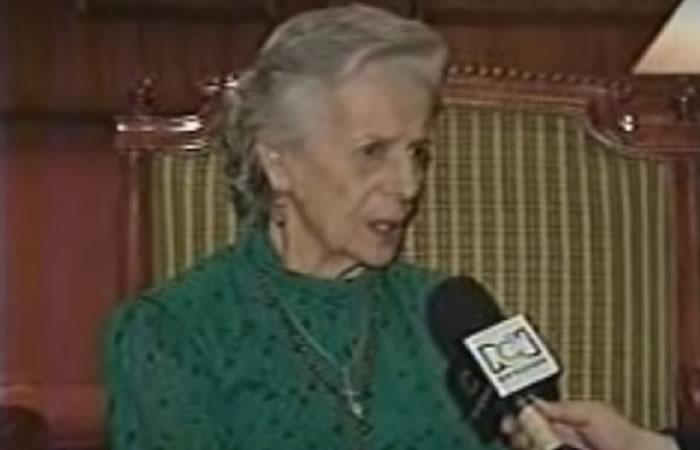 Clara González Rojas. Foto: Youtube