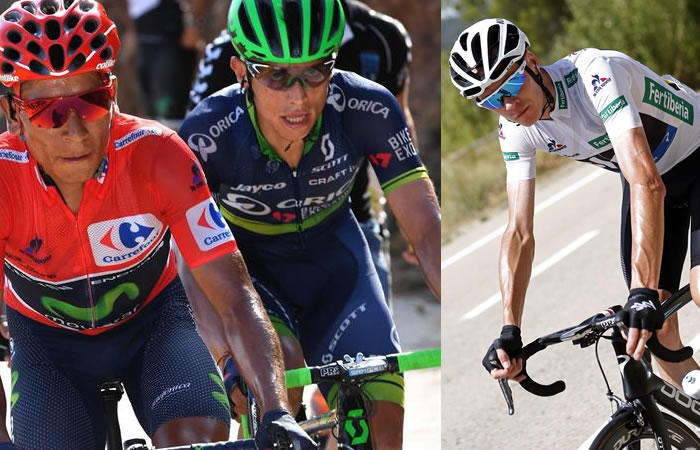 Vuelta a España: Nairo Quintana sigue líder y Chaves puede superar a Froome