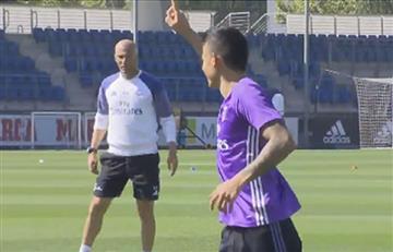James Rodríguez: Zidane se la pasó y el colombiano hizo gol