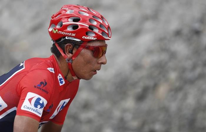 Nairo Quintana sigue primero luego de la contrarreloj