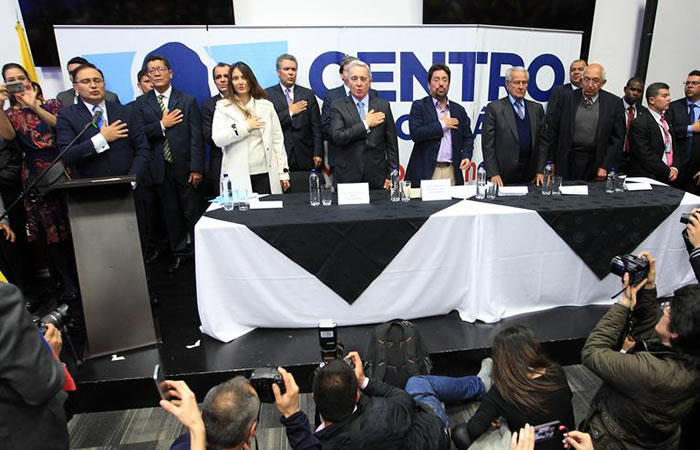 Integrantes del Centro Democrático. Foto: EFE