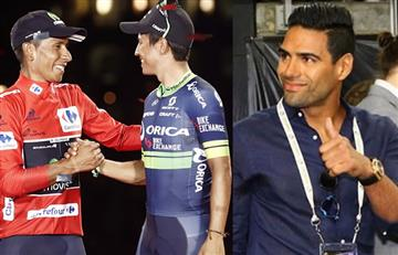 Falcao García felicitó a Nairo Quintana y a Esteban Chaves