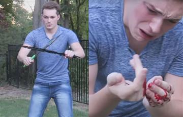 Youtuber intentó ser ninja y protagonizó un sangriento hecho