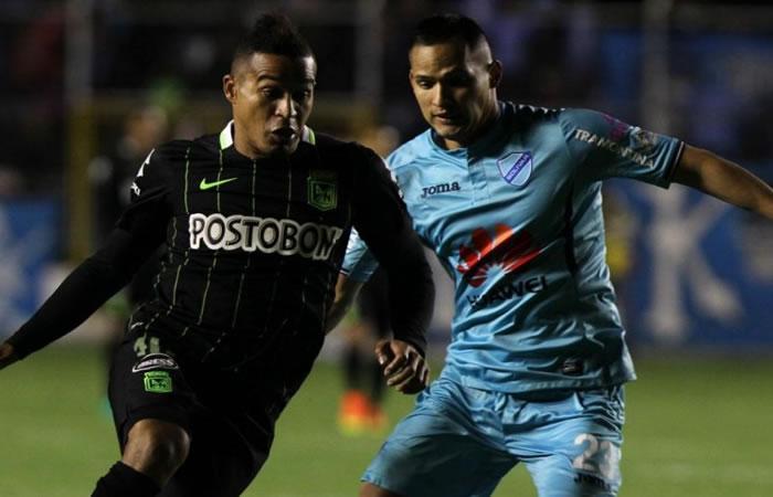 Atlético Naciona y Bolívar empataron 1-1 en la ida. Foto: EFE